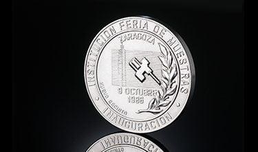 Monedas conmemorativas feria de muestras de Zaragoza