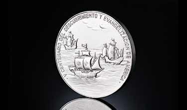 Monedas conmemorativas centenario descubrimiento de América