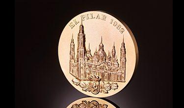 Monedas conmemorativas - basílica del Pilar 1982